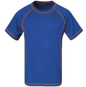 Yaz Yürüyüş nefes tişörtlü Erkekler Çabuk Kuru Coolmax Homme Kamp Spor Balıkçılık Koşu T-shirt ücretsiz kargo