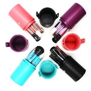 حار المهنية 12PCS المعبأة في زجاجات المكياج فرش ماكياج فرشاة مجموعة مستحضرات التجميل كيت 6 ألوان + برميل الشحن DHL مجانا
