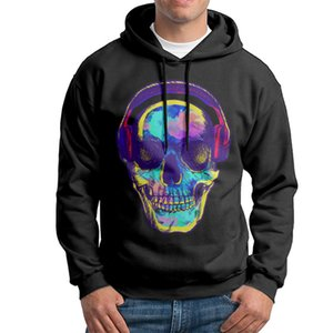 2017 New Men's long sleeve hoodies with skull candy printed for autumn and winter free shipping