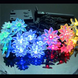 Moda Tatil Aydınlatma 20 LEDs Yenilik Lotus Çiçek Peri Dize Işıklar Düğün Bahçe Partisi Noel Dekorasyon Güneş LED