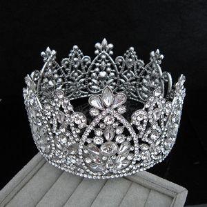 Brautkrone Königin Strass Kristalle königliche Hochzeit Kronen Kristall Stein Stirnband Haar Maskerade Studio Moulding Geburtstag Party Tiaras