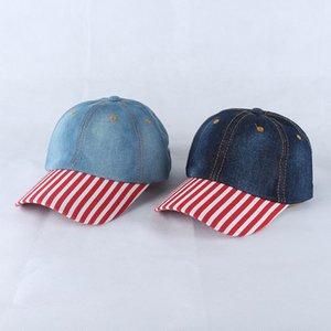Berretto da baseball leggero con cappuccio in stile patch in denim a toppe europee e americane con cappuccio da sole in stile cowboy