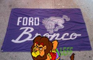 Ford Bronco Automóvil bandera de exposiciones, coche nuevo logotipo de la bandera, tamaño 90x150cm, 100% poliéster