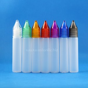 100 sets / lot 10ml UNICORN 플라스틱 Dropper 병 크리스탈 캡 Long Thin Tip 넓은 입 PE e 액체 Vapour Juice e-Liquide 10 ml