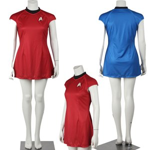 Popular Movie COS Star Trek Into Darkness Star Fleet Uhura Costume Dress Cosplay Red Uniform Halloween