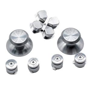 Алюминиевая металлическая пуля ABXY Button + Thumb Sticks ручки + Chrome D-pad для PS4 DualShock 4 Controller Mod Kit кнопки замены