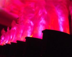 RGB / RBY LED Fausse Flamme Lumière 1,5M soie blanche feu machine Stade équipement DMX512 contrôle à distance