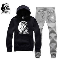Весна осень мужская повседневная Slim Fit толстовки + брюки спортивная мужской лоскутное флисовая куртка последние короли пот костюм S-5XL