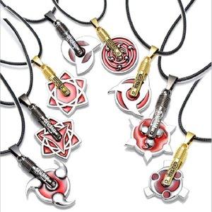 Hot Anime Collana all'ingrosso Anime Cosplay Jewelry Naruto 8 diversi disegni nuove collane ciondolo catena in pelle