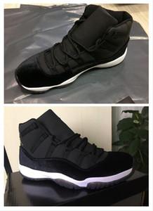 NIKE AIR JORDAN RETRO Nueva Llegada 11 Velvet Heiress Night Negro Hombres Mujeres Zapatos de Baloncesto Vino Rojo 11s Heiress Sports Sneakers de Alta Calidad