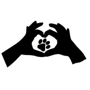 Wholesale 20pcs lot Home Decorations Automobile and Motorcycle Vinyl Decal Car Glass window Stickers Jdm Love Paw Print Cat Dog Pet