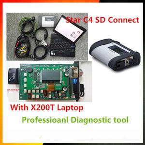09/2017 MB C4 SD 연결 스타 진단 시스템, MB STAR C4 Xentry 진단 도구 용 Vediamo DTS Monaco8 및 X200T 랩탑 장착