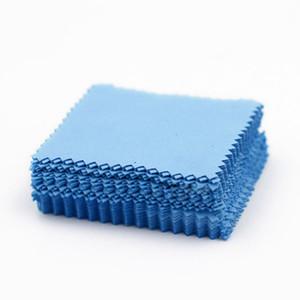 100pcs argent bijoux nettoyage chiffon chiffon lingette tissu flannelette argent nettoyage tissu 8x8cm