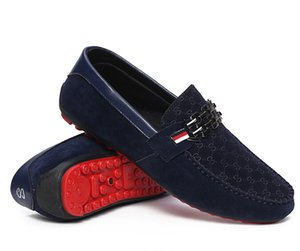 Rouge Bas Mocassins Noir Hommes Chaussures Slip On Hommes Chaussures Plates Mode Mâle Respirant Mocassins Mocassins Mocassins 3A
