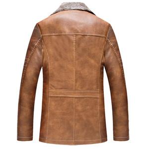 Loja Online Importado Dos Homens Do Vintage Jaqueta De Couro De Pele Plus Size XXXL Estilo Inverno Quente Grosso Casacos De Pele Dos Homens C1227