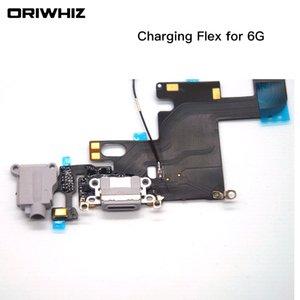 IPhone 6 6 Artı 6 Artı USB Dock Şarj Şarj Kulaklık Ses Portu Flex Kablo Yedek parça Beyaz Siyah Renk Sipariş Karıştırın