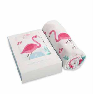 4 стили дети Муслина пеленает Ins бамбуковое волокно двухслойная марля одеяло Ins пеленание банные полотенца Parisarc халаты одеяло халаты с коробкой