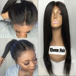 180% Плотность Перуанский Прямой Парик Фронта Шнурка Человеческих Волос 7А Glueless Полные Кружева Парики Человеческих Волос Для Чернокожих женщин с Натуральной Волос
