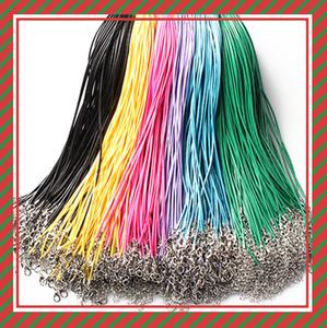 14 cores 50 cm de Cera De Couro Colar Beading Cord Corda Corda Fio com Fecho Da Lagosta colar pulseiras DIY jóias Descobertas barato 161211