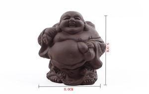 Venta de fábrica creativa elegante arcilla púrpura sonrisa Chinese tieguanyin té mascotas alrededor de 8 cm * 9 cm accesorios para el té T63