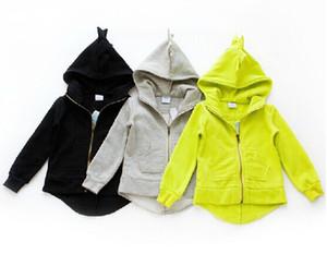 1 adet perakende Sonbahar Yeni çocuklar dinozor hoodies erkek ve kız ceketler bebek giyim çocuk ceket çocuk giyim giysi giymek (5 adet- $ 9.29)