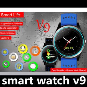 Mode SIM Smart Watch Telefon Digitaluhr V9 für Männer Frauen Bluetooth Elektronik Smartwatch Kamera für Android Phone Tragbare Geräte