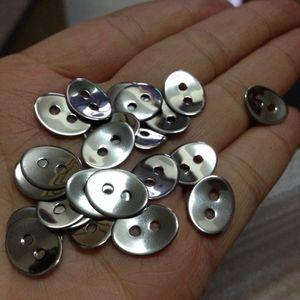 جديد بالجملة 100 قطع فضية 2 ثقوب ورقة سحر البيضاوي موصل الفولاذ المقاوم للصدأ الأزياء الفواصل مجوهرات العثور على مكونات للبيع