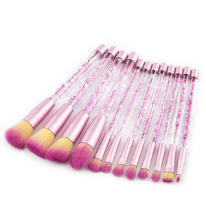 Brilho De Cristal Maquiagem Brushes Set 12 pcs Diamante Profissional Highlighter Brushes Corretivo Make Up Brush Set Escova Sereia Kit DHL Livre