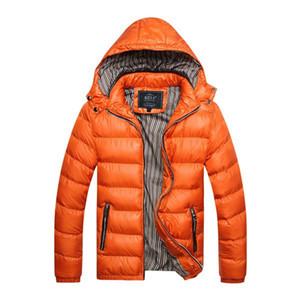 Autunno-5 colori 2016 Nuovo Autunno Inverno Giacca Uomo Moda Uomo caldo antivento giacca con cappuccio cappotto spesso Plus taglia US M L XL