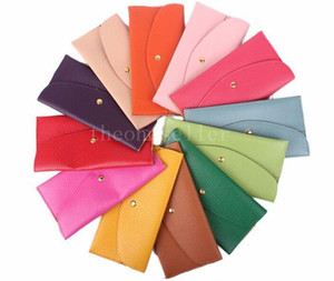 10pcs New Fashion Lady Wallets Leather Credit Card Tote Envelope Clutch Bags For Women Wallet Purse