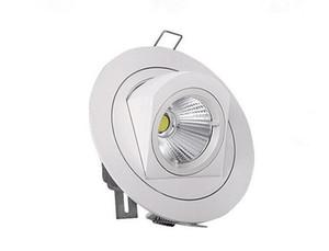 Завод Горячая продажа Регулируемая 15W 25W 35W Супер COB LED Gimbal Embedded привело Ствол лампа круглый COB shoplighter 85-265 Светодиодные светильники