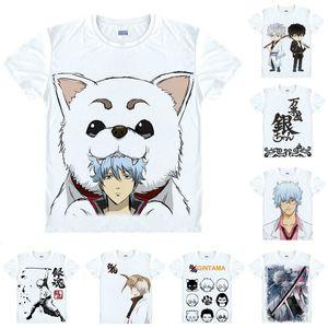 Maglietta anime GINTAMA Gin Tama Silver Soul Maglietta Manica corta multi-stile Gintoki Sakata Sadaharu Cosplay Motivs Hentai Camicie