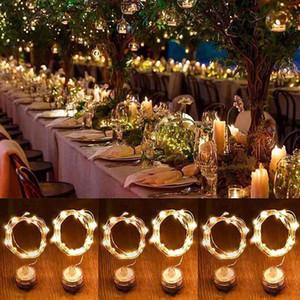 Nuevo 2M 20 Luces LED alambre Vela Pétalo cuerdas de luz de buceo Impermeable Navidad Holiday Home Party Glow Suministros de Decoración