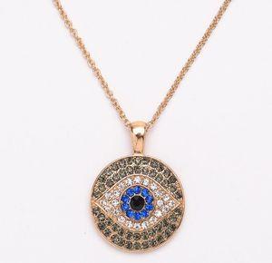 2018 تركيا متعدد الألوان الماس الشر العين قلادة البلوز سلسلة قلادة فتاة مجوهرات + شحن مجاني 357