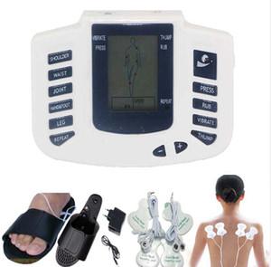 Masseur corporel électrique Corps complet Relax Muscle Thérapie Soins de santé Masseur Dents de pouls Acupuncture Thérapie Pantoufle + 8pads