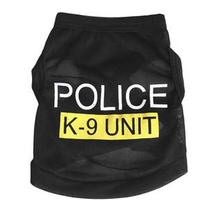 Черная одежда для собак POLICE K9 UNIT выкройка кошачьей одежды для собак жилетки оптом