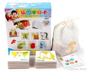 Preescolar reconocer letras figura animal tarjeta de cognición. Juguetes educativos para niños, rompecabezas, rompecabezas del alfabeto desarrollo intelectual