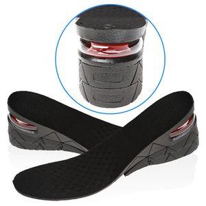 3 레이어 스텔스 조정 가능한 증가 된 Insoles 남성 여성 신발 패드 높이 증가 깔창 블랙 에어 쿠션 리프트 패드 힐