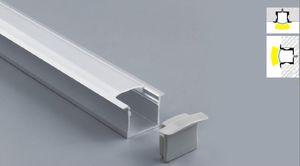 envío LED de aluminio Perfil LED Linear luz del gabinete del armario Perfil sujetador de la tira de LED con cubierta