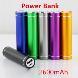Livraison gratuite cylindre forme 2600mah Portable Mobile Power Bank 5V 1A Chargeur de batterie USB 18650 banque de puissance pour votre téléphone