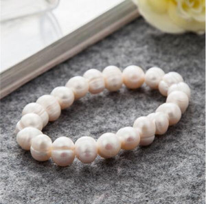Jln Perle D'eau douce pomme de terre Forme Élastique Corde Bracelet Femmes Mode Naturel Perle Bracelet