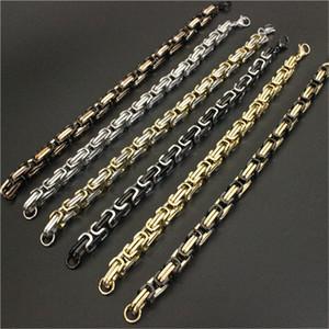 8mm 8.5inch polissage motocycles plaqués or bracelet de chaîne de vélo 316L bracelet de bijoux en acier inoxydable 316L