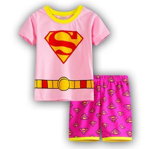уммер детские пижамы мультфильм костюмы мальчики пижамы дети пижамы девушки мультфильм с коротким рукавом 2-7year ночная рубашка набор SP21
