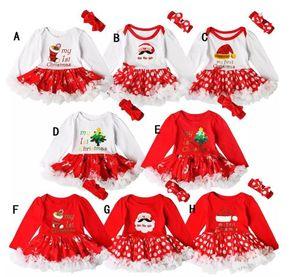 Baby Weihnachten Outfits Langarm Mädchen Red Christmas Kleid Tutu Kleinkind Lace Romper Vestido Bebe Infant Clothing
