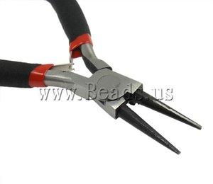 Al por mayor-libre del envío 12.5cm herramienta de fabricación de joyas alicates de aguja de acero inoxidable alicates de múltiples funciones pleirs diy herramientas negro
