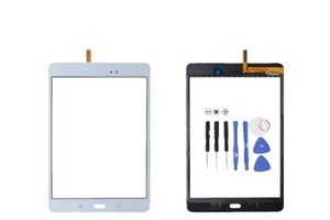 Touch Screen Digitizer Glass Lens with Tape for Samsung Galaxy Tab A 8.0 T350 T351 T355 with logo digitizer 20PCS Lot DHL