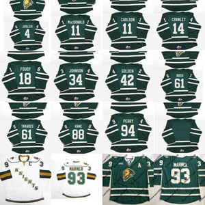 11 John Carlson 18 Liam Foudy 61 John Tavares 63 Cliff Pu 88 Patrick Kane OHL London Knights Customized Hockey Jersey