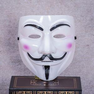новый V маска Вендетта белый желтый Маска анонимный парень Фокс необычные взрослый костюм Хэллоуин маски Маскарад V маски для Хэллоуина