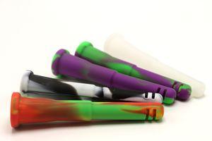 Großhandel 14mm Female 18mm Male Silikon Downstem Glas Downstem Rauchen Zubehör für Ölbohrplattformen Glas Bongs Glas Wasserrohr