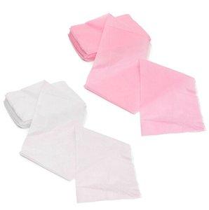 Pratique 10pcs massage beauté imperméable à usage unique Nonwoven lit Table couverture Feuilles Salon de beauté dédié Blanc Rose 80X180cm